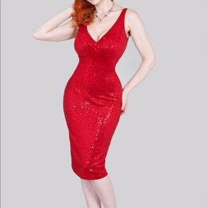 Red Holiday Wiggle Dress